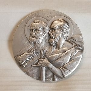Silver Holy Religious Medal